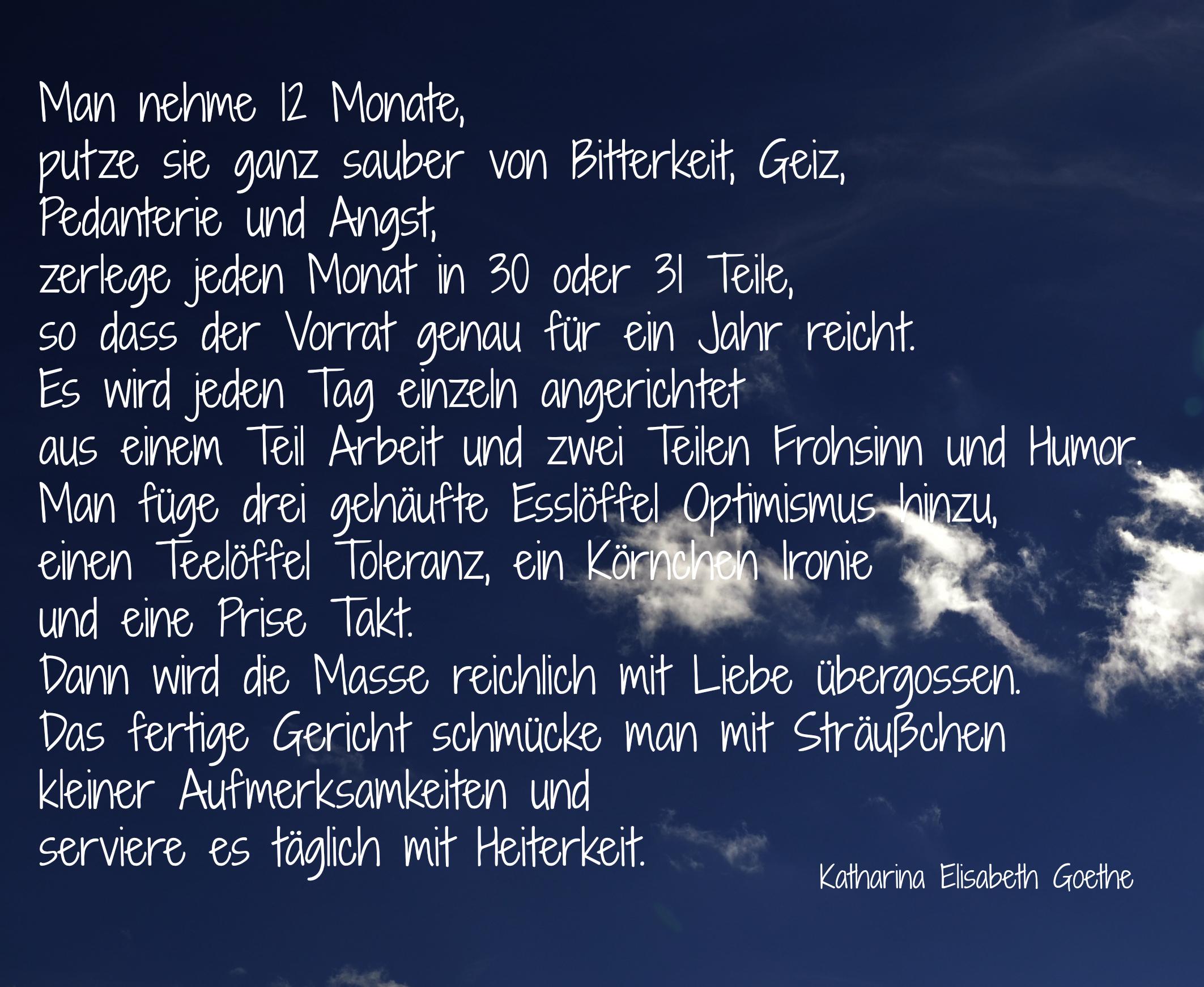 Goethe Zitate Neues Jahr Lebe Dein Leben Sprüche