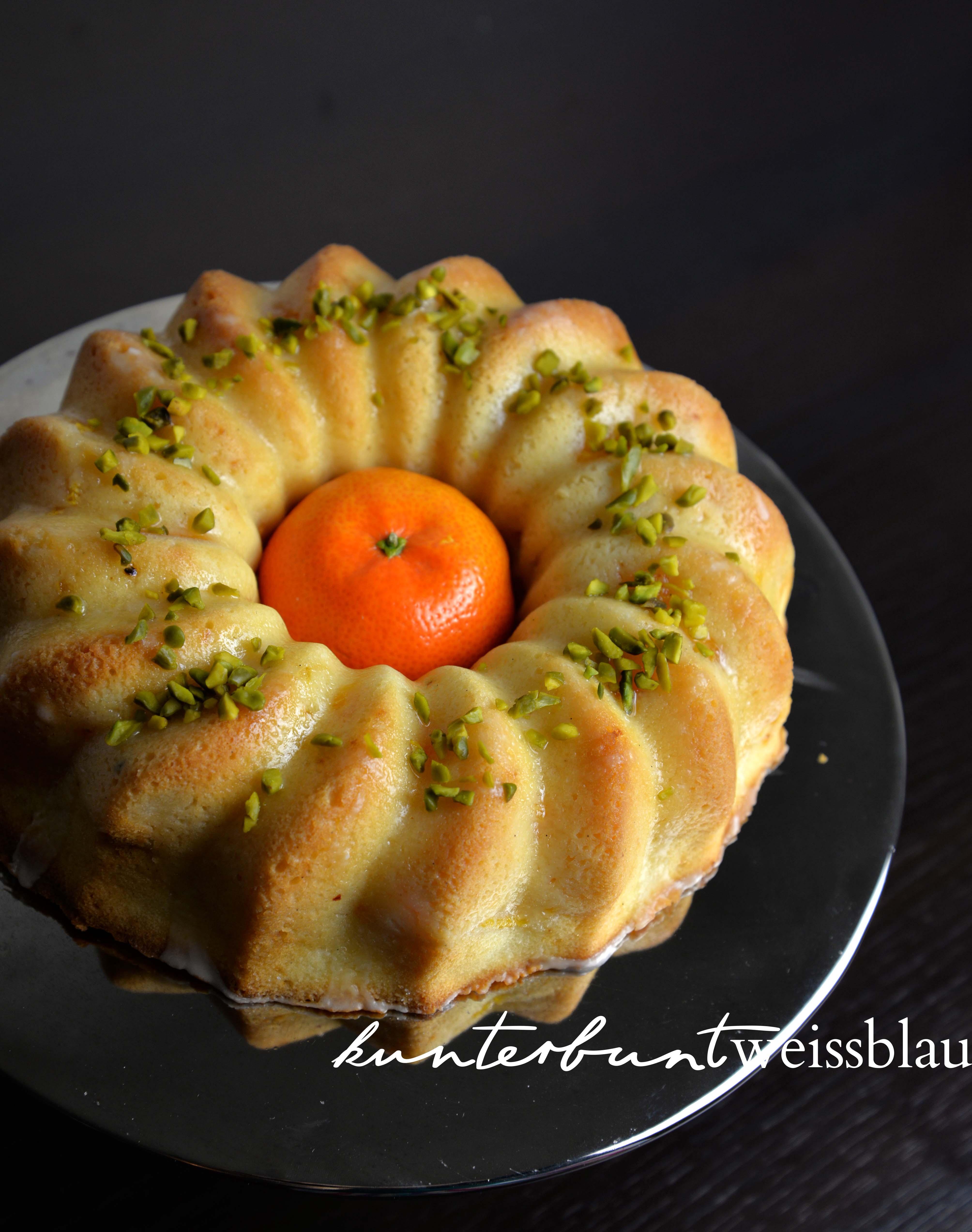Mandarinen Schmand Kuchen Kunterbuntweissblau I Food Und