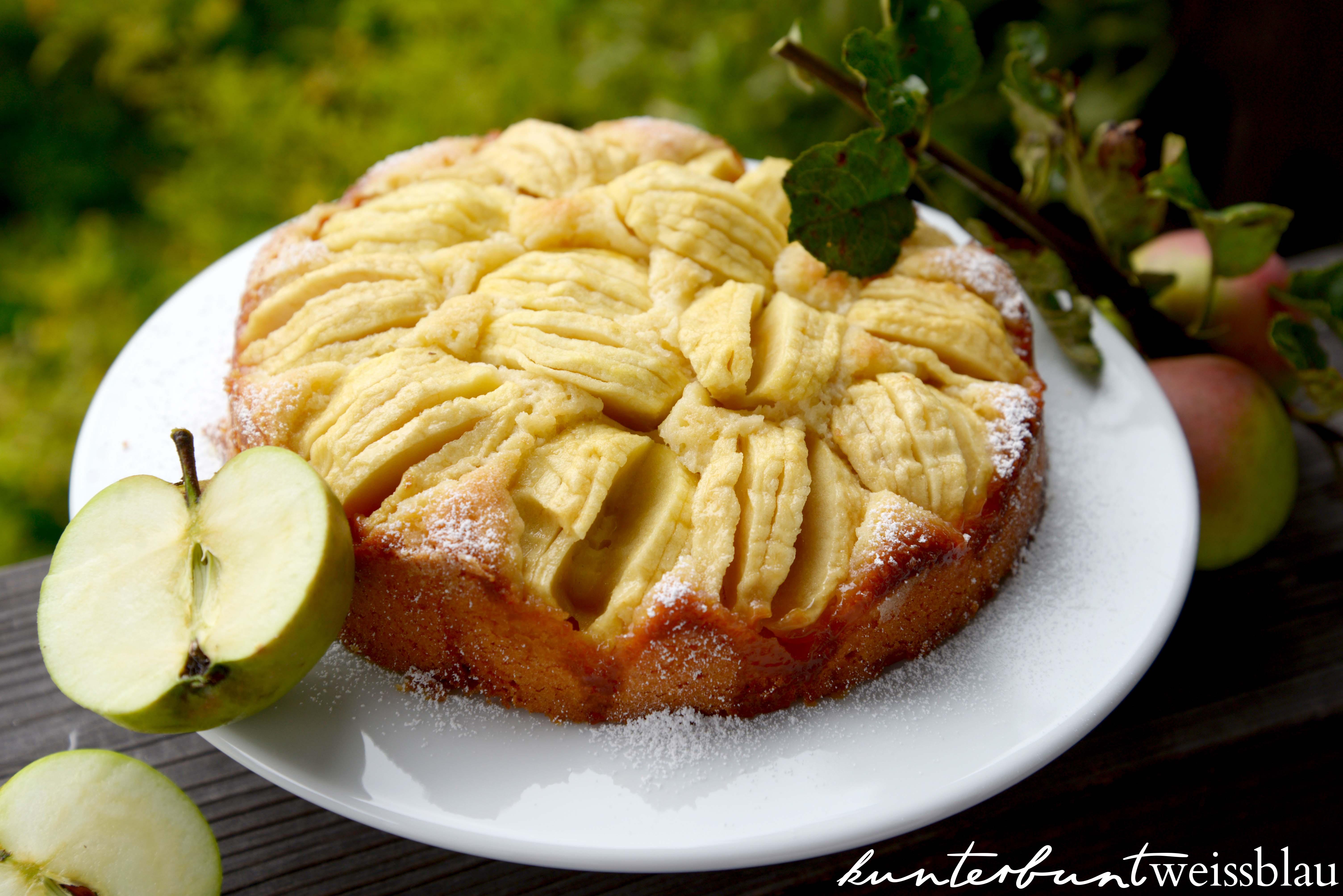 Versunkener Apfelkuchen Kunterbuntweissblau I Food Und Travelblog