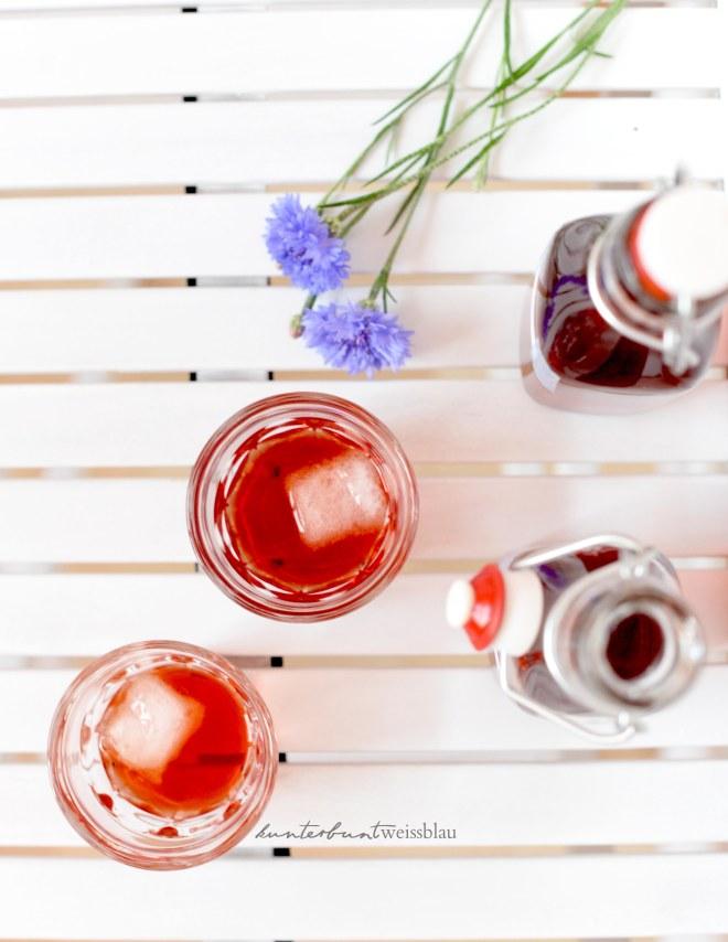 Erdbeer limes gekühlt