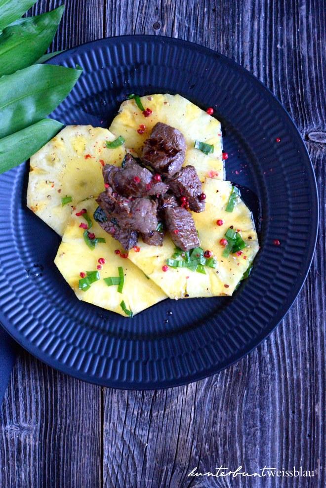 warum ananas so gesund ist und ein carpaccio rezept mit rindfleisch und b rlauch. Black Bedroom Furniture Sets. Home Design Ideas
