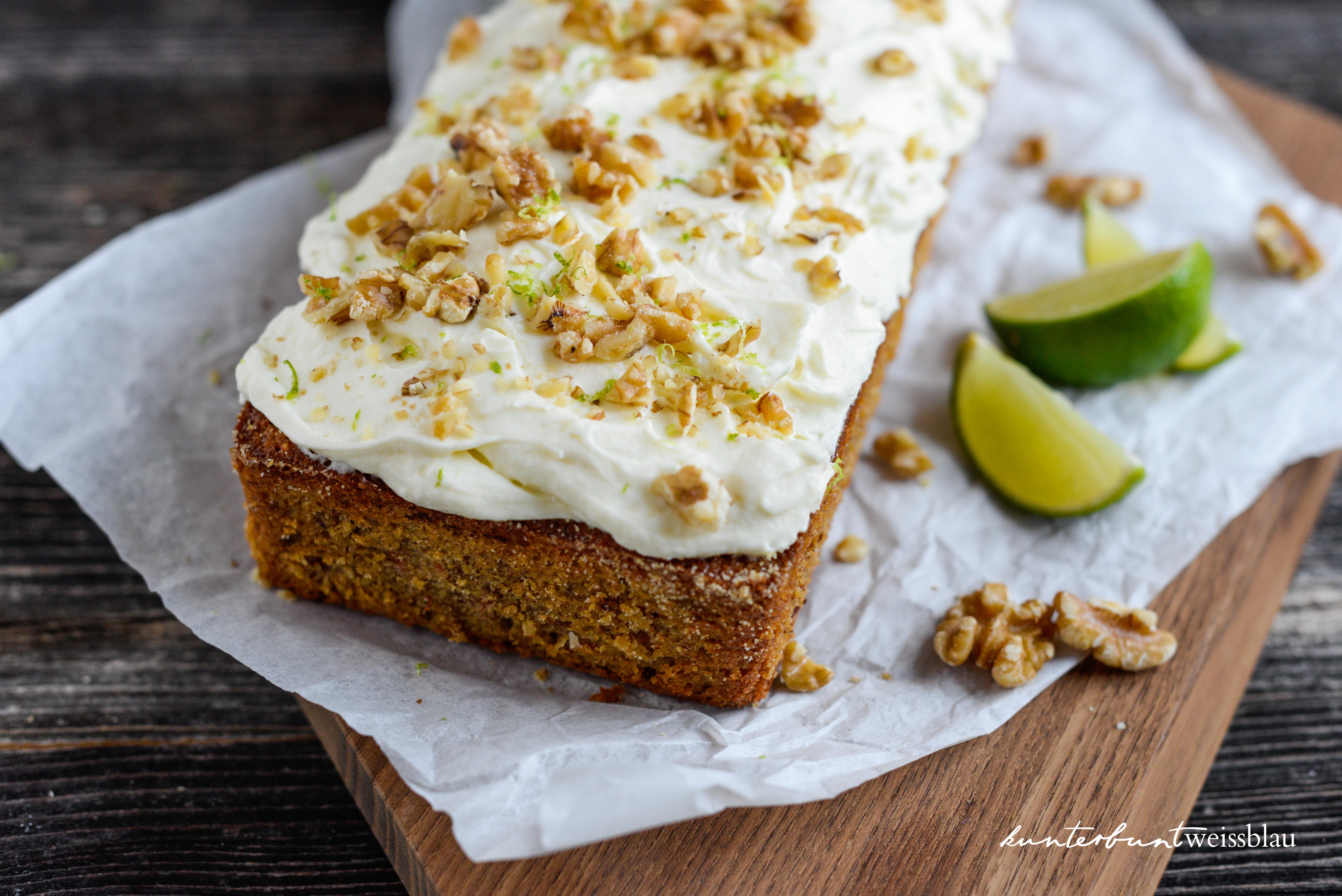 Carrot Cake nach Jamie Oliver | kunterbuntweissblau I Food- und ...