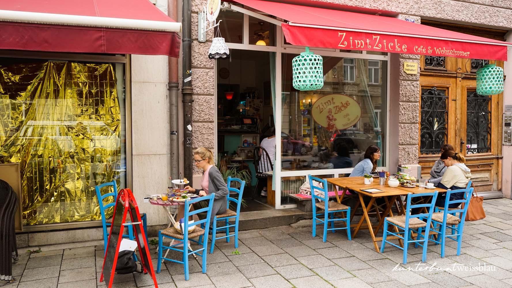 Fruhstuck Im Cafe Zimtzicke Munchen Kunterbuntweissblau I