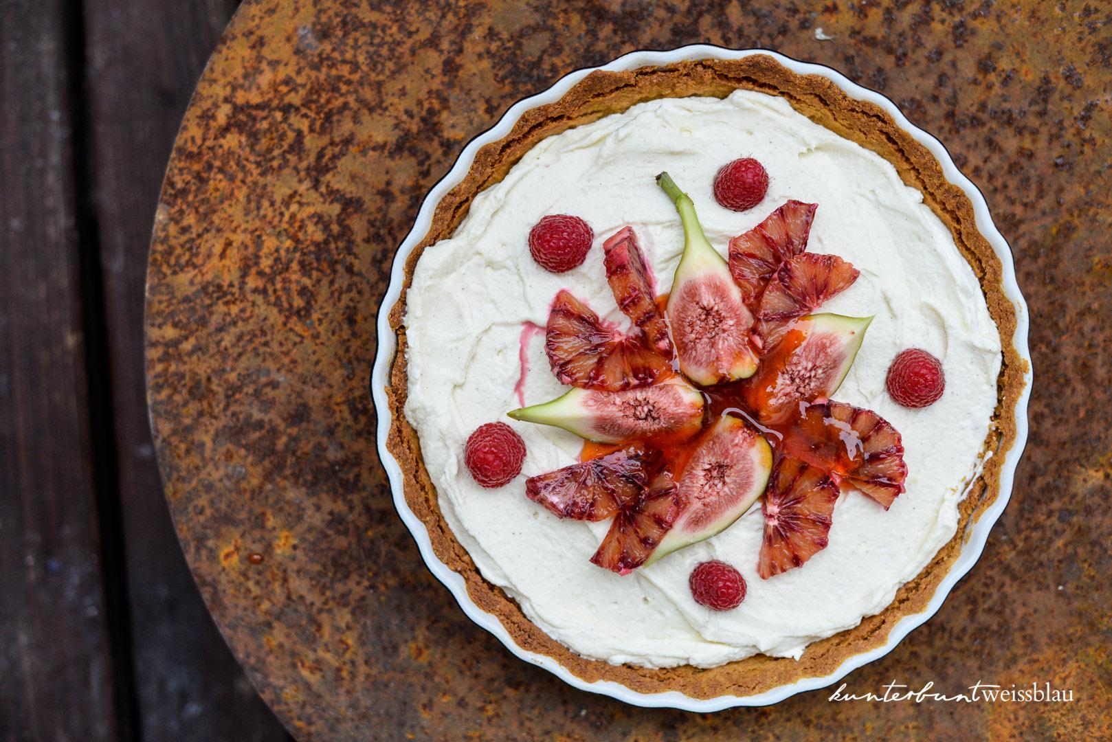 Cheesecake Tarte mit Blutorangen, Feigen und Rosato Sirup ...